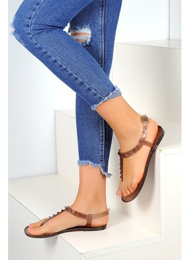 Pembe Potin A1605-17 Kadın Sandalet A1605-17 Siyah